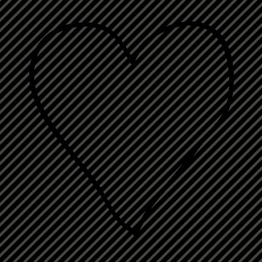 drawn, handdrawn, heart, love, romance, sketch, sketchy icon