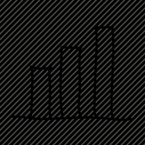 analytics, bar graph, drawn, graph, handdrawn, sketch, sketchy icon