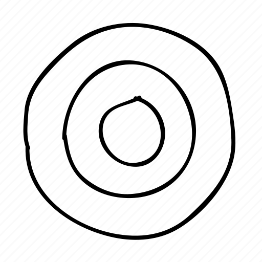 bullseye, dartboard, drawn, handdrawn, sketch, sketchy, target icon