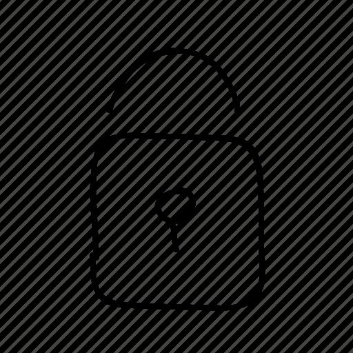drawn, handdrawn, lock, padlock, security, sketch, sketchy icon