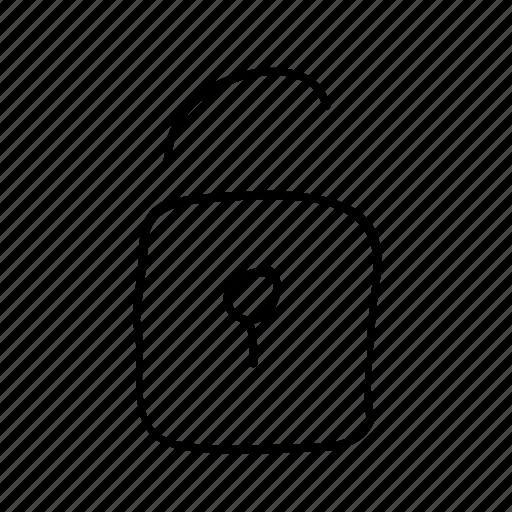 drawn, handdrawn, lock, security, sketch, sketchy, unlock icon