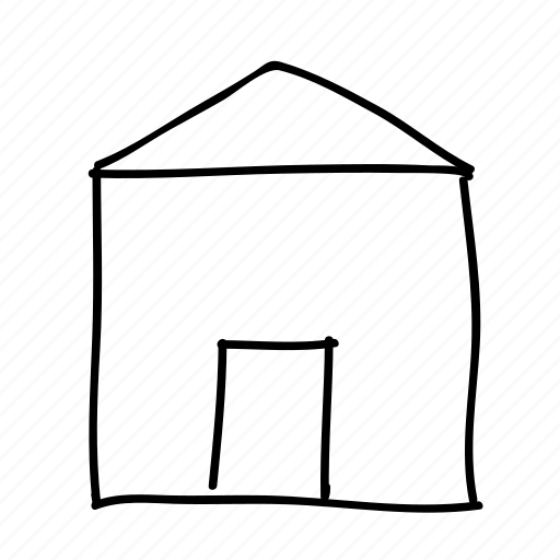 drawn, handdrawn, home, homepage, house, sketch, sketchy icon