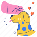 animals, pet, animal, dog, hand, gesture, love