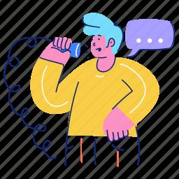 communication, man, talk, chat, conversation, call