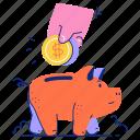 finance, piggy, bank, savings, cash, coin, dollar