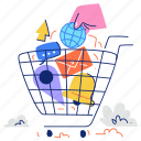 shopping, cart, ecommerce, commerce, message, notification, email