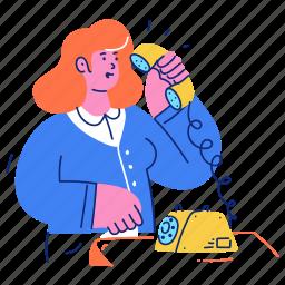 support, communication, woman, phone, telephone, call, customer