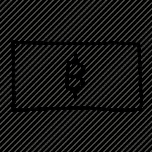 baht, banking, drawn, finance, financial, money, sketch icon