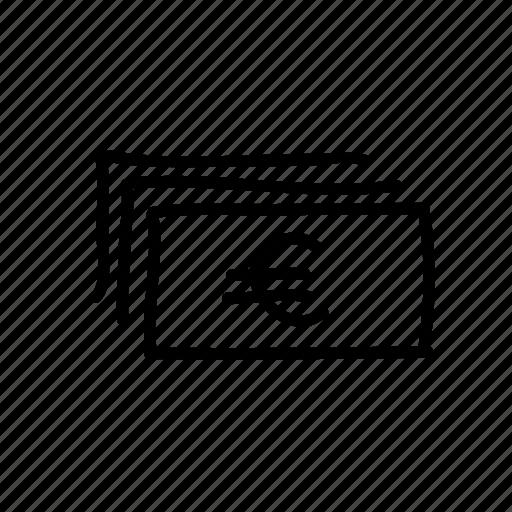 banking, drawn, euro, finance, financial, money, sketch icon