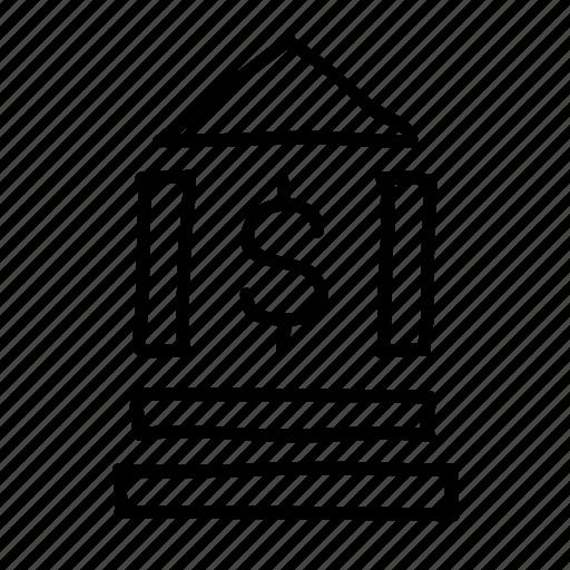 bank, banking, drawn, finance, financial, money, sketch icon