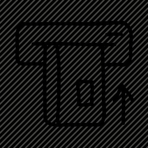 atm, banking, drawn, finance, financial, money, sketch icon
