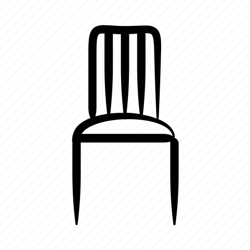 chair, decoration, furniture, hand drawn, home, house, seat icon