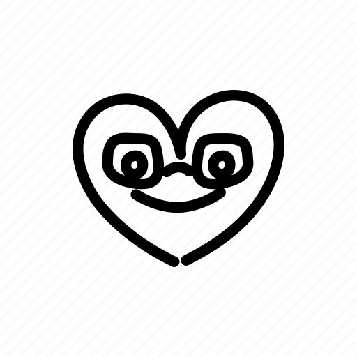 couple, glasses, halloween, heart, love, marriage, valentine's day icon