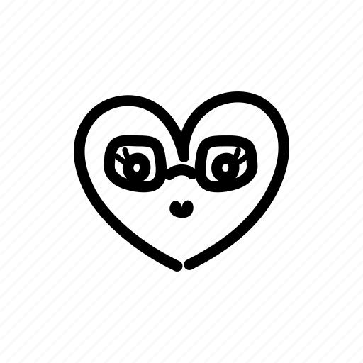 couple, female, glasses, halloween, heart, marriage, valentine's day icon