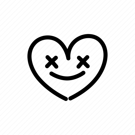crazy, crazy face, cross, heart, in love, mad, valentine icon