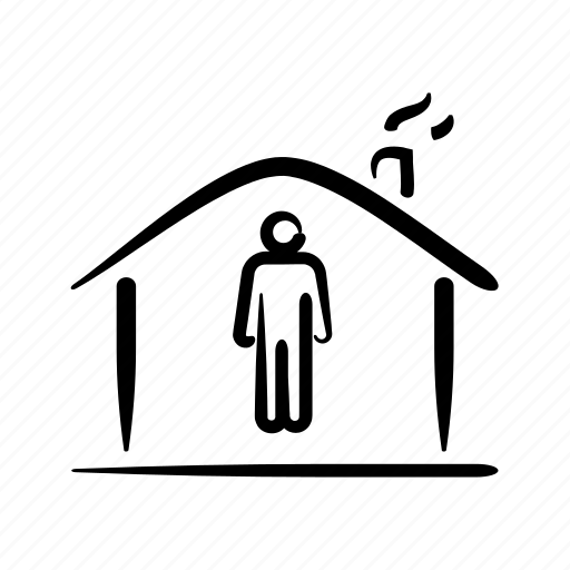 hand drawn, home, house, household, owner, property, tenant icon