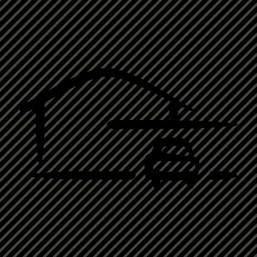 Car, garage, house, parking, property, real estate icon - Download on Iconfinder