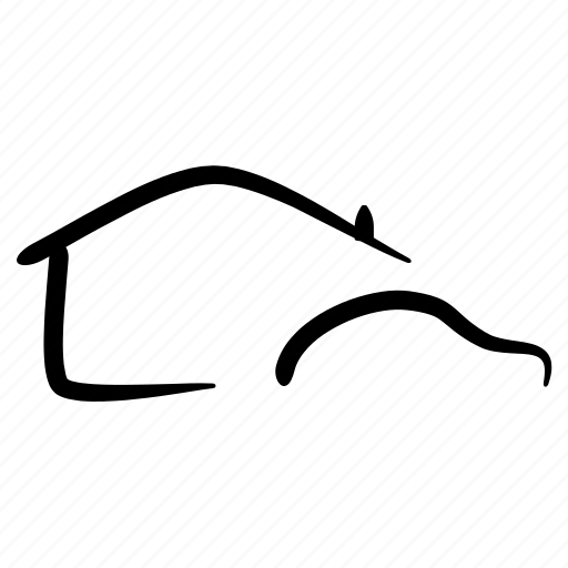 assets, car, drawing, hand drawn, house, property, sketching icon