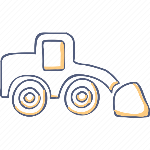 asset, construct, truck icon