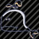 sad, whale icon