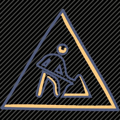 Construction, work, asset, hazard icon