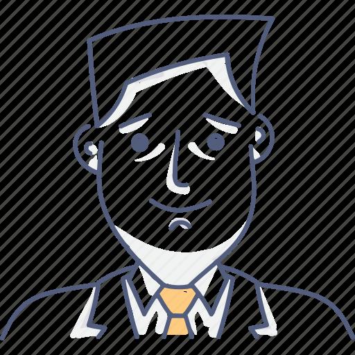 business, man, tie, work icon
