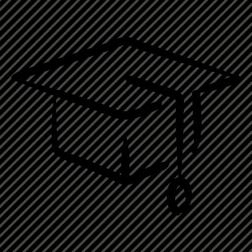 cap, education, graduate, graduation, hand drawn, school, student icon