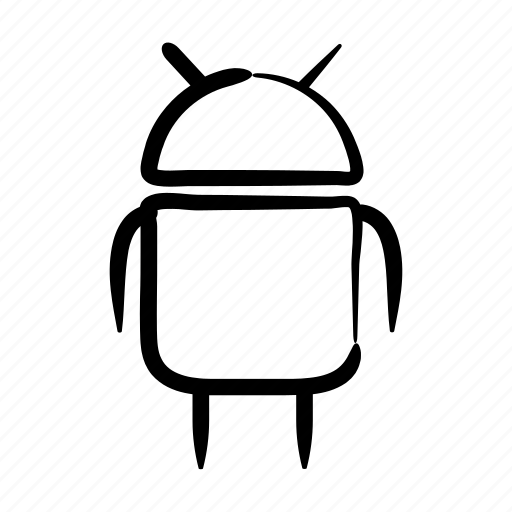 android, artificial, bot, hand drawn, intelligence, robot, sci fi icon
