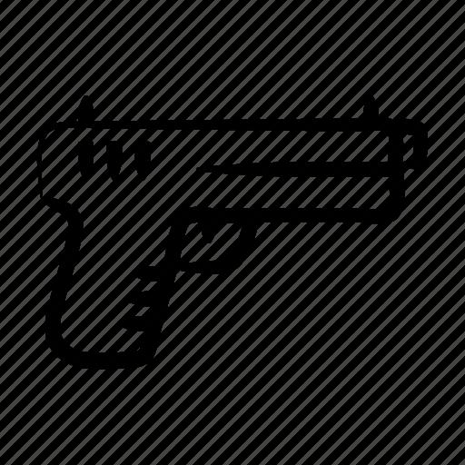 arm, conflict, fire, gun, violence, violent, weapon icon