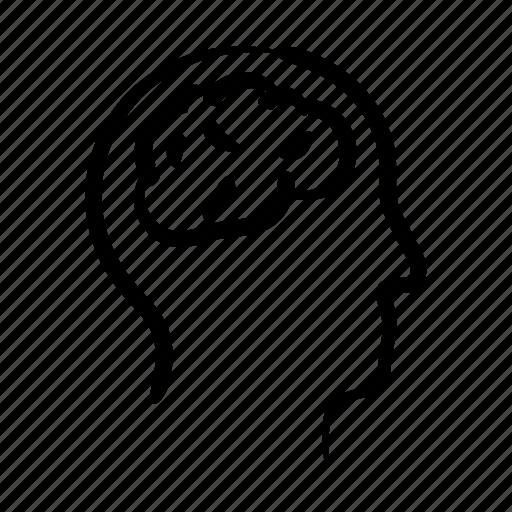 brain, hand drawn, intelligence, mind, think, thinker, thought icon