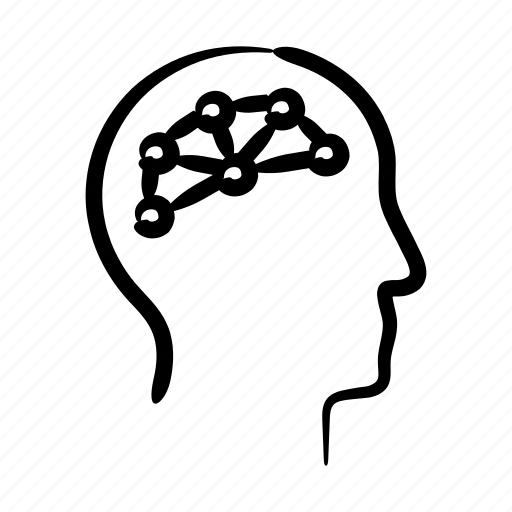 brain, connections, hand drawn, iq, mind, synapse, thoughts icon