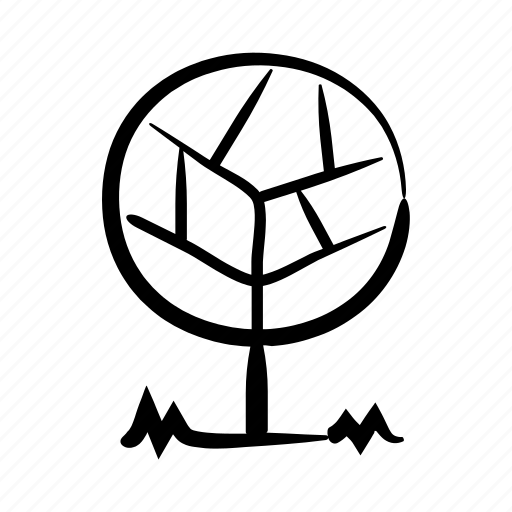 forest, hand drawn, nature, outdoors, park, tree, wild icon