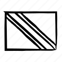 drawn, flag, flags, hand, sketch, trinidad and tobago, trinidad and tobago flag icon