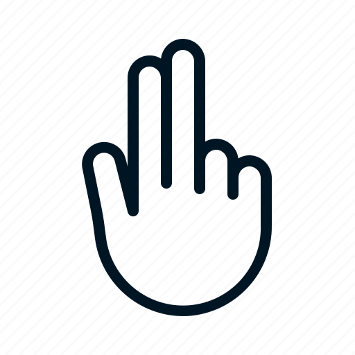 Finger, gesture, hand, two icon - Download on Iconfinder