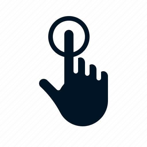 Click, finger, gesture, hand, touch icon - Download on Iconfinder
