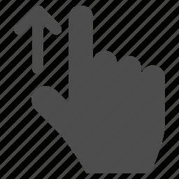 arrow, direction, finger, gesture, hand, location, pointer icon
