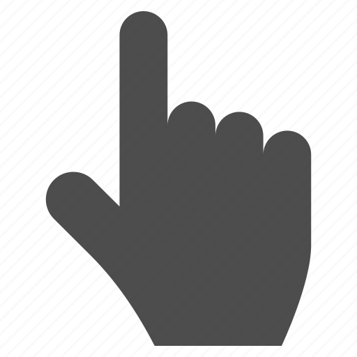 choice, direction, gesture, index finger, point, pointer, select icon