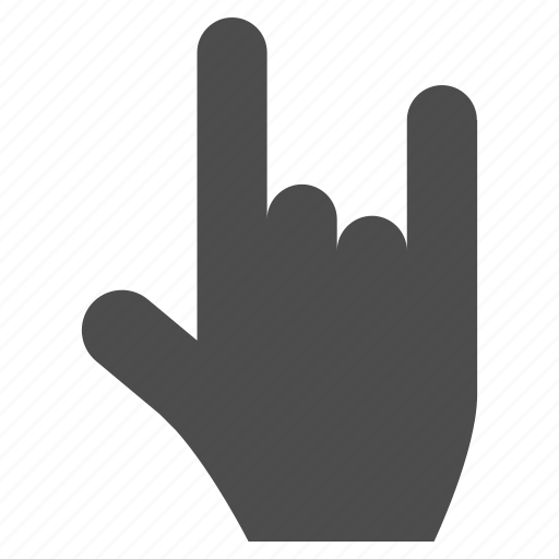 cool, fingaz, fingers, gesture, hand, music, rock icon