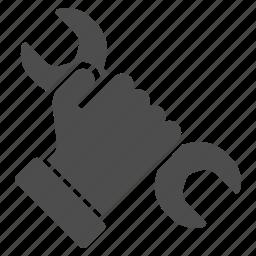 gesture, maintenance, repair, service, settings, tools, work icon