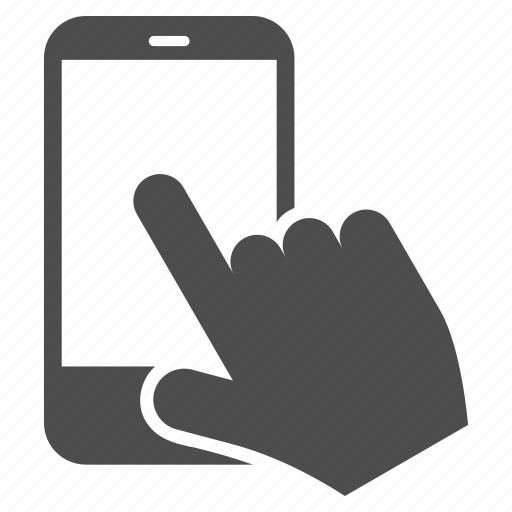 communication, finger, gesture, mobile, point, smartphone, touch icon