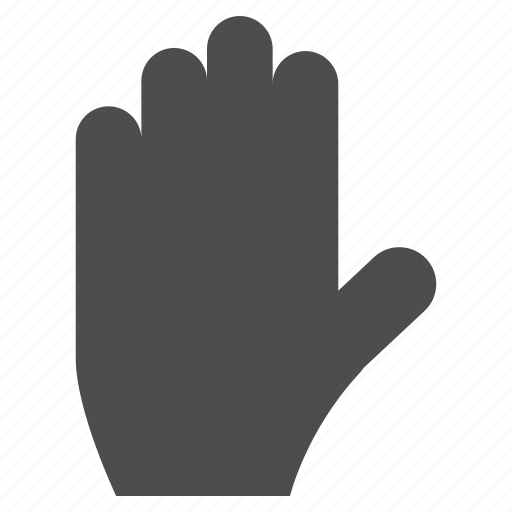 back, cancel, gesture, hand, pause, stop, warning icon