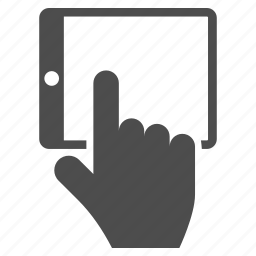 finger, gesture, hand, ipad, point, tablet, touch icon