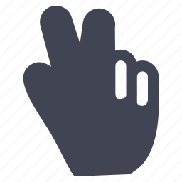 fingers, gestures, hand, peace, sign icon