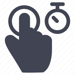 clock, gestures, hand, hold, tab, time icon