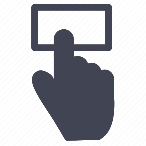 gestures, hand, rectangle, screen, touch icon