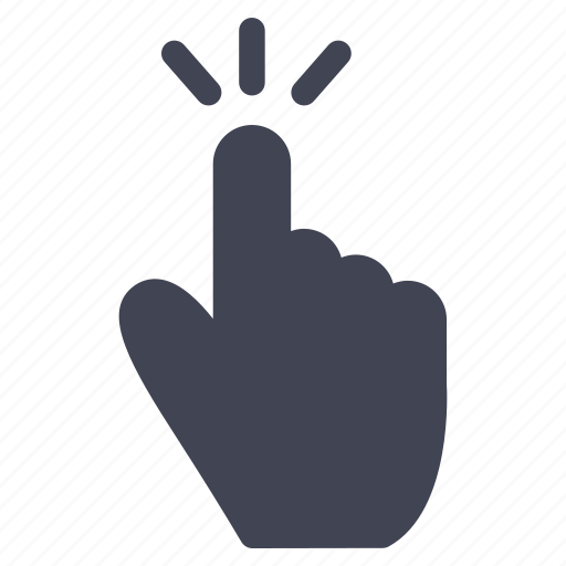 click, gestures, hand, tap, touch icon
