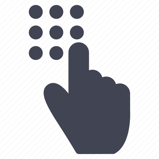 gestures, hand, pad, touch icon