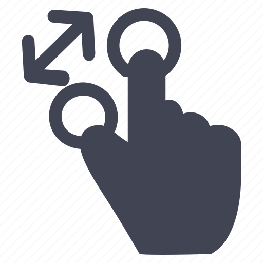 arrows, gestures, hand, in, zoom icon