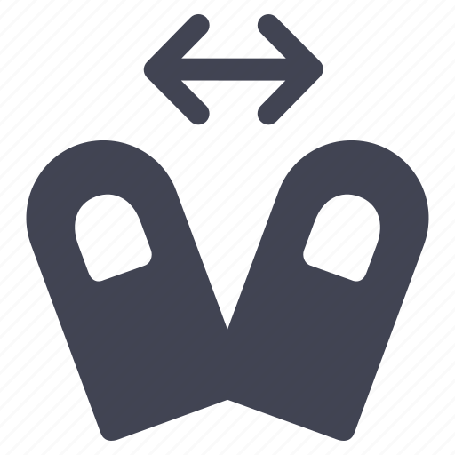 arrows, fingers, gestures, hand, in, zoom icon