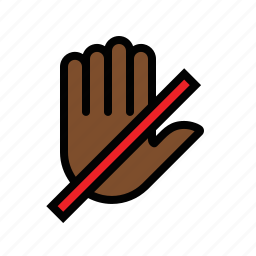 do, gestures, hand, not, touch icon